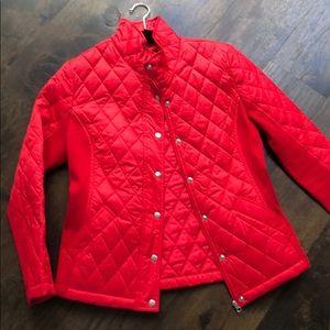 Marina red puffer jacket